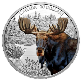 2020 $30 FINE SILVER COIN IMPOSING ICONS: MOOSE