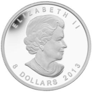 SALE - 2013 $8 FINE SILVER 1.5OZ. COIN - POLAR BEAR