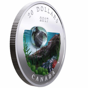 SALE - 2017 $20 FINE SILVER COIN UNDER THE SEA: SEA TURTLE
