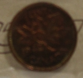 1942 CIRCULATION ONE-CENT COIN - RED & BROWN - MS-63