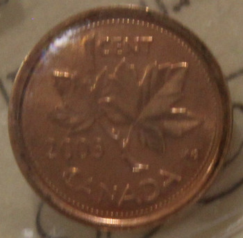 2003 CIRCULATION ONE-CENT COIN - RED - MS-65