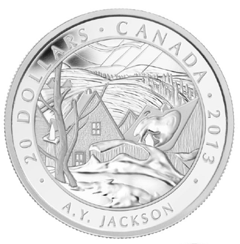 SALE - 2013 $20 FINE SILVER COIN GROUP OF SEVEN - A.Y. JACKSON