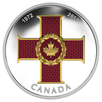 SALE - 2017 $20 FINE SILVER COIN - CANADIAN HONOURS 45TH ANNIVERSARY OF THE CROSS OF VALOUR