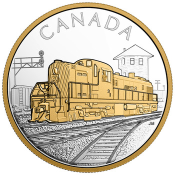 SALE - 2017 $20 FINE SILVER COIN LOCOMOTIVES ACROSS CANADA: RS 20
