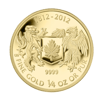2012 $10 PURE GOLD COIN - THE WAR OF 1812 (1/4oz. GOLD)