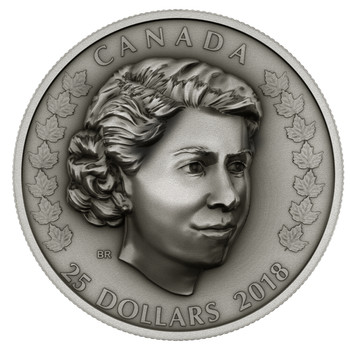 SALE - 2018 $25 FINE SILVER COIN HER MAJESTY QUEEN ELIZABETH II: THE NEW QUEEN