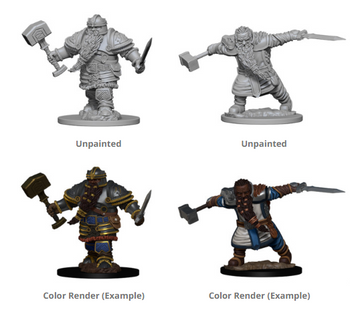 D&D UNPAINTED MINIS DWARF MALE FIGHTER