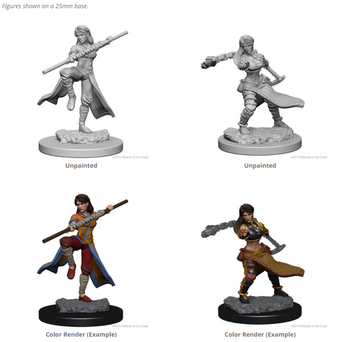 D&D UNPAINTED MINIS FEMALE HUMAN MONK
