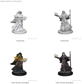 D&D UNPAINTED MINIS FEMALE HUMAN WIZARD