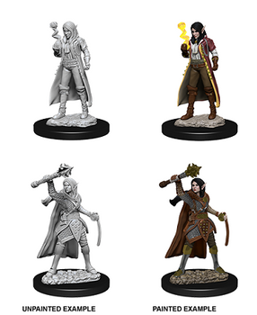 D&D UNPAINTED MINIS FEMALE ELF CLERIC
