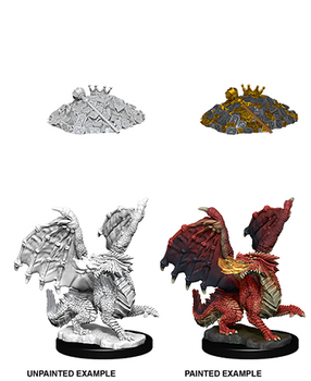 D&D UNPAINTED MINIS  RED DRAGON WYRMLING