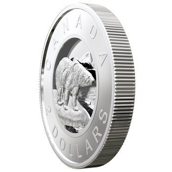2019 $2 FINE SILVER COIN FROM THE R&D LAB: MULTILAYERED POLAR BEAR