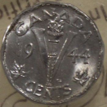 1944 CIRCULATION 5-CENT COIN - MS65