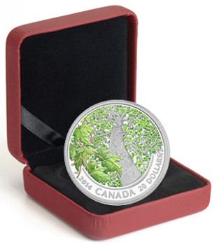 SALE - 2014 $20 FINE SILVER COIN MAPLE CANOPY - SPRING SPLENDOUR