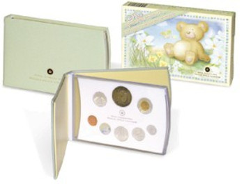 SALE - 2006 STERLING SILVER BABY PROOF COIN SET