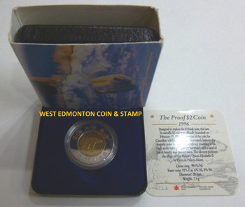 SALE - 1996 PROOF POLAR BEAR TOONIE ($2 COIN)
