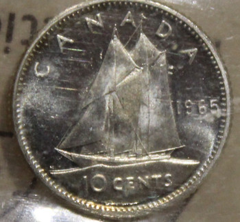 1965 CIRCULATION 10-CENT COIN - HEAVY CAMEO - MS64