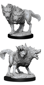 D&D UNPAINTED MINIS DEATH DOG