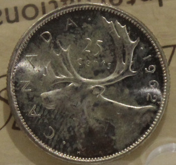 1962 CIRCULATION 25 CENT COIN - ULTRA HEAVY CAMEO - MS63