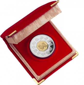 SALE - 2006 $15 LUNAR SILVER & GOLD COIN - YEAR OF THE DOG