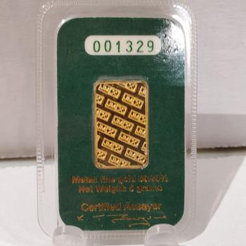 5 GRAM J&M GOLD BAR (packaged)