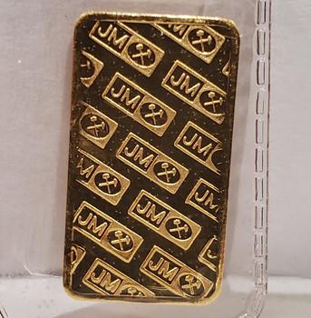 5 GRAM J&M GOLD BAR (unpackaged)