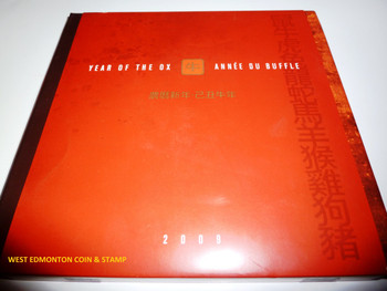 SALE - 2009 YEAR OF THE OX STAMP & COIN SET