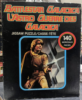 1978 BATTLESTAR GALACTICA STARBUCK PUZZLE - 140 PIECES - PARKER BROTHERS