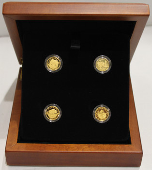 2014 $5 PURE GOLD 4-COIN SET - O CANADA WILDLIFE SERIES (4 x 1/10oz. GOLD)