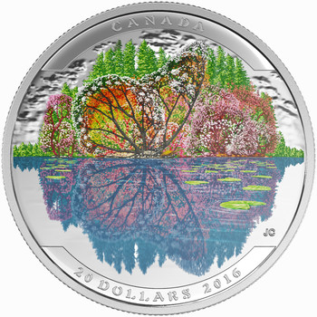SALE - 2016 $20 FINE SILVER COIN – LANDSCAPE ILLUSION BUTTERFLY (TONED)