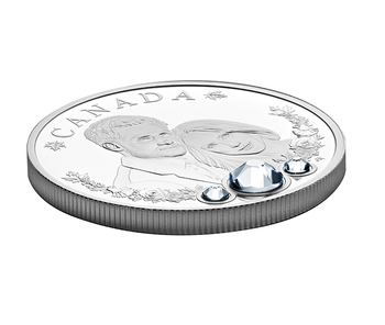 SALE - 2018 $20 FINE SILVER COIN WITH SWAROVSKI® CRYSTALS - THE ROYAL WEDDING OF  PRINCE HARRY AND MS MEGHAN MARKLE