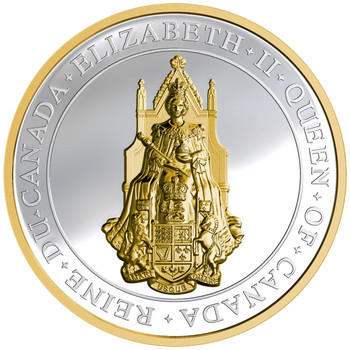 SALE - 2017 $25 FINE SILVER COIN THE GREAT SEAL OF CANADA