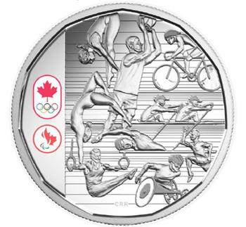 SALE - 2016 LIMITED EDITION PROOF SILVER DOLLAR CELEBRATING CANADIAN ATHLETES