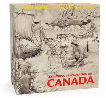 SALE - 2014 $15 FINE SILVER COIN EXPLORING CANADA: THE VOYAGEURS