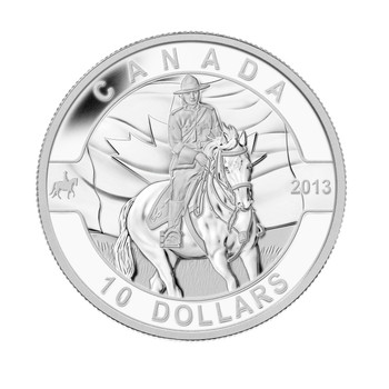 SALE - 2013 $10 FINE SILVER COIN - O CANADA SERIES - ROYAL CANADIAN MOUNTED POLICE