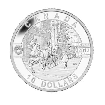SALE - 2013 $10 FINE SILVER COIN - O CANADA SERIES - HOLIDAY SEASON