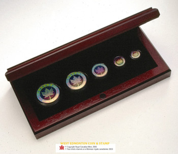SALE - 2003 HOLOGRAM FRACTIONAL SILVER MAPLE LEAF SET
