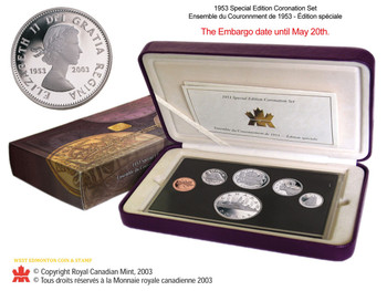 SALE - 2003 50TH ANNIVERSARY 1953 - 2003 SPECIAL EDITION CORONATION SET