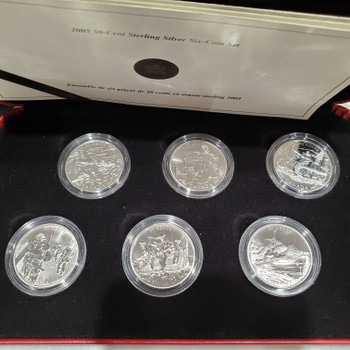 2005 50-CENT STERLING SILVER 6-COIN SET - SECOND WORLD WAR BATTLE OF BRITAIN