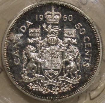 1960 CIRCULATION 50-CENT COIN - CAMEO - PL-65