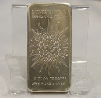 10oz. SILVER SHIELD BAR - JESUS CLEARS THE TEMPLE