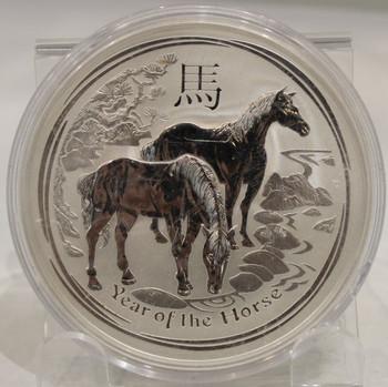 2014 AUSTRALIA 10oz. SILVER COIN YEAR OF THE HORSE