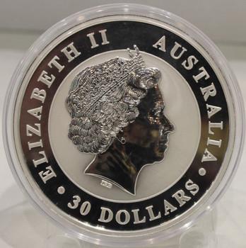 2014 AUSTRALIA KOOKABURRA 1 KILO SILVER COIN