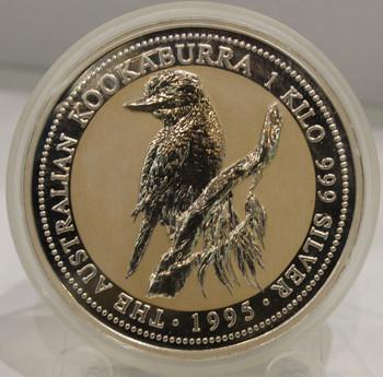 1995 AUSTRALIA KOOKABURRA 1 KILO SILVER COIN