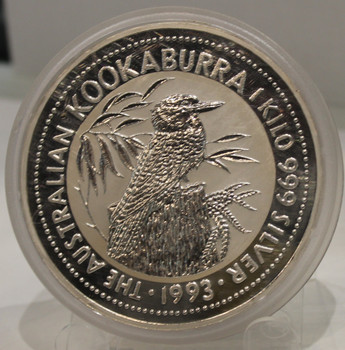 1993 AUSTRALIA KOOKABURRA 1 KILO SILVER COIN