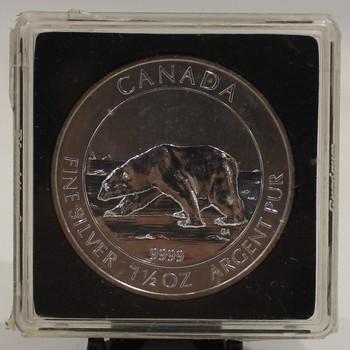 2013 POLAR BEAR 1.5oz. SILVER COIN