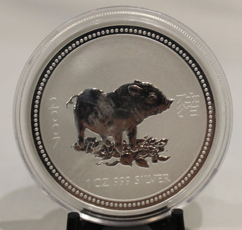 2007 AUSTRALIA 1oz. SILVER COIN YEAR OF THE PIG