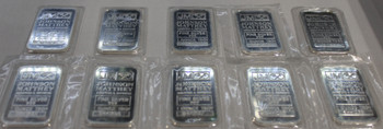 10 1oz. J&M SILVER BARS