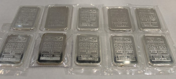 10 x 1oz. J&M SILVER BARS