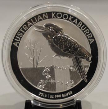 2016 AUSTRALIA KOOKABURRA 1oz. SILVER COIN